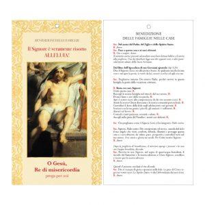 Cartoncino Benedizione delle Famiglie - Gesù Risorto