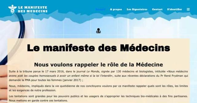 Le manifeste des Medecins