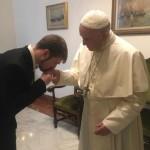 Papa Francesco e Thomas Evans