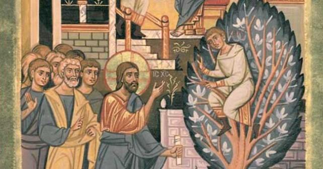 Cristo e Zaccheo