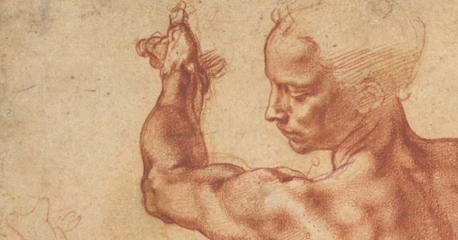 Michelangelo, Studies for the Libyan Sibyl (particolare - MET New York